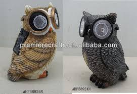owl with sunglasses solar light solar powered garden ornament