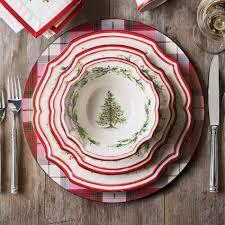 Sur La Table Placemats Holly U0026 Pine 16 Piece Dinnerware Set Sur La Table