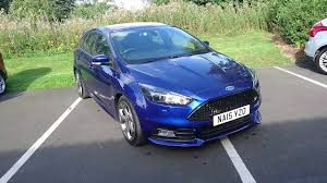 used ford focus st3 used ford focus 2 0 tdci 185 st 3 5dr impact blue 2015