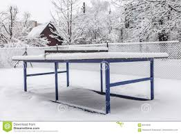 outdoor ping pong table in winter stock image image 84316031