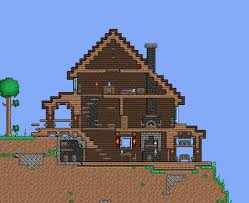 terraria houses this house i made for my friend when he was
