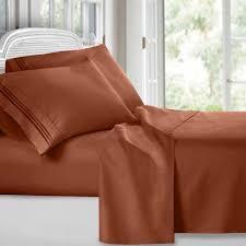 Egyptian Bed Sheets Egyptian Comfort 1800 Count 4 Piece Deep Pocket Bed Sheet Set Ebay