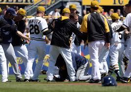 battlin u0027 bucs in brouhaha with brewers pittsburgh post gazette