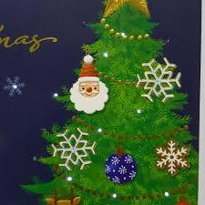 factory low price musical led light custom christmas greeting