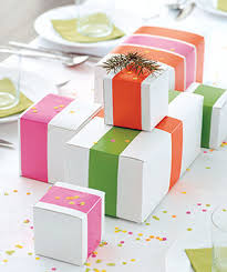 wrapped gift boxes creative gift wrapping ideas real simple