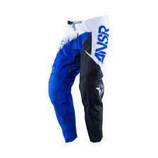 blue motocross gear answer syncron white black blue motocross pants jersey gear set