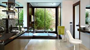 transparent glazed bathroom door with black bathtub inside youtube