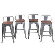 what is the height of bar stools amazon com 24 low back metal counter stool height bar stools