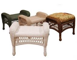 furniture creative wicker ottoman design for your living room