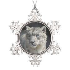snow leopard ornaments keepsake ornaments zazzle