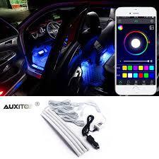app controlled car lights 4 in 1 app control car led interior lights decor for kia rio 3 k2