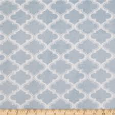 Moroccan Tile by Minky Moroccan Tile Light Blue Discount Designer Fabric Fabric Com