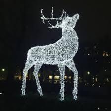 outdoor decorations lights large outdoor reindeer
