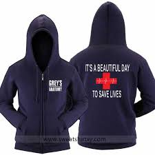 grey u0027s anatomy hoodie its a great day to save lives sweatshirt for