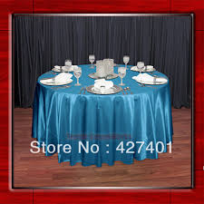 wedding linens for sale hot sale teal shaped poly satin table cloth wedding meeting party