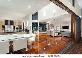 www home interior luxurious home interior large sliding doors stock photo 129899264
