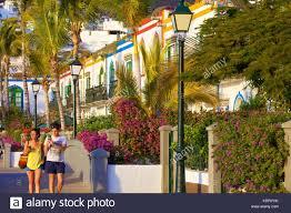 typically spanish houses puerto de morgan gran canaria canary