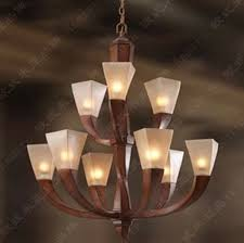 Vintage Glass Chandelier Mediterranean Resin Wooden Chandelier Led Retro Glass Chandelier 9