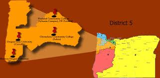 map of oregon i 5 oregon trio district 5