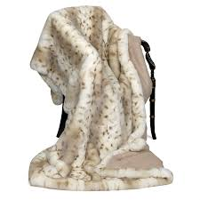 Faux Fur Blanket Queen Faux Fur Throw Lynx Cashmere Fresh For Spring Collections