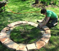 How To Make A Fire Pit With Bricks - how to make a stacked stone fire pit
