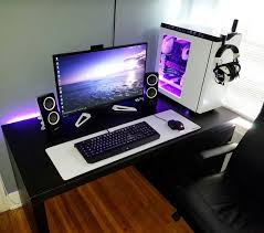 Pc Gaming Desks Enchanting Gaming Desk Setup Ideas Best Ideas About Gaming Setup