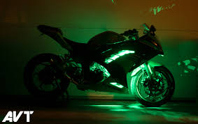 led strip lights for motorcycles avt innovations ninja 300 body glow led light kit