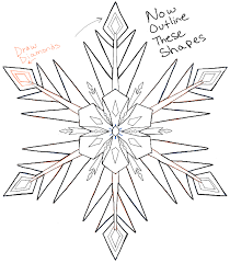 draw snowflakes disney frozen movie easy