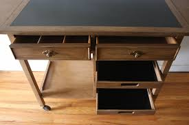 Broyhill Computer Desk Mid Century Modern Serving Bar Cart From Broyhill Premier
