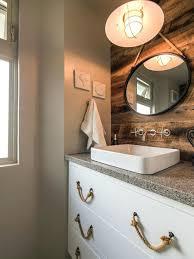 nautical bathroom mirrors nod to nautical bathroom beautiful nautical bathroom for a mid sized beach style 3 at vanity