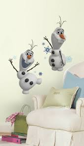 frozen olaf snow man peel and stick wall decals
