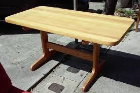 uhuru furniture u0026 collectibles sold oak trestle butcher block