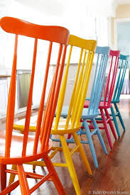 color furniture furniture makeover spray painting wood chairs in my own style