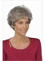 cheap gray short curly wigs fashion heat resistant synthetic grey