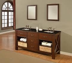 White Bathroom Vanity With Black Granite Top by Creative Craftsman Style Bathroom Vanity Furniture Design Ideas