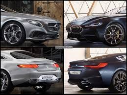 photo comparison bmw 8 series concept vs mercedes benz s class