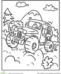transportation coloring page off road vehicle worksheets and