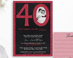 40th anniversary invitations 40th wedding anniversary party invitations style by