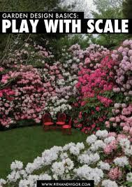 garden design basics play with scale scale plays and gardens