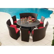 Grand Resort Osborn  Piece Round Dining Set Featuring Sunbrella - 7 piece outdoor dining set with round table