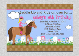 9 jaw dropping horse birthday party invitations theruntime com