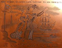 the copper plate in the sunderland museum mate sound the pump