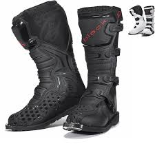 Black Mx Enigma Motocross Boots Ce Level 2 Certified Christmas