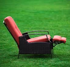 Cushions For Reclining Garden Chairs Amazon Com Naturefun Indoor Outdoor Wicker Adjustable Recliner