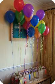 simple balloon decorations at home for birthday balloon