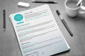 modern resume with cover letter resume templates creative market