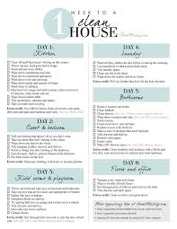 Clean Bedroom Checklist 1 Week Schedule To A Clean And Organized House House Mix