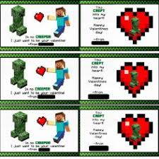 minecraft valentines free printable minecraft valentines 6 designs and the creeper candy