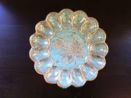 vintage deviled egg plate e r vintage deviled egg tray dish american artware floral design