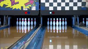 bowling inserts halfway bowling 10 pins standing then